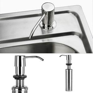 Image 5 - 300ml Soap Dispenser Lotion Pump Liquid Detergent Built In Installation Hand Sanitizer Organizer Stainless Steel For Bathroom Ki