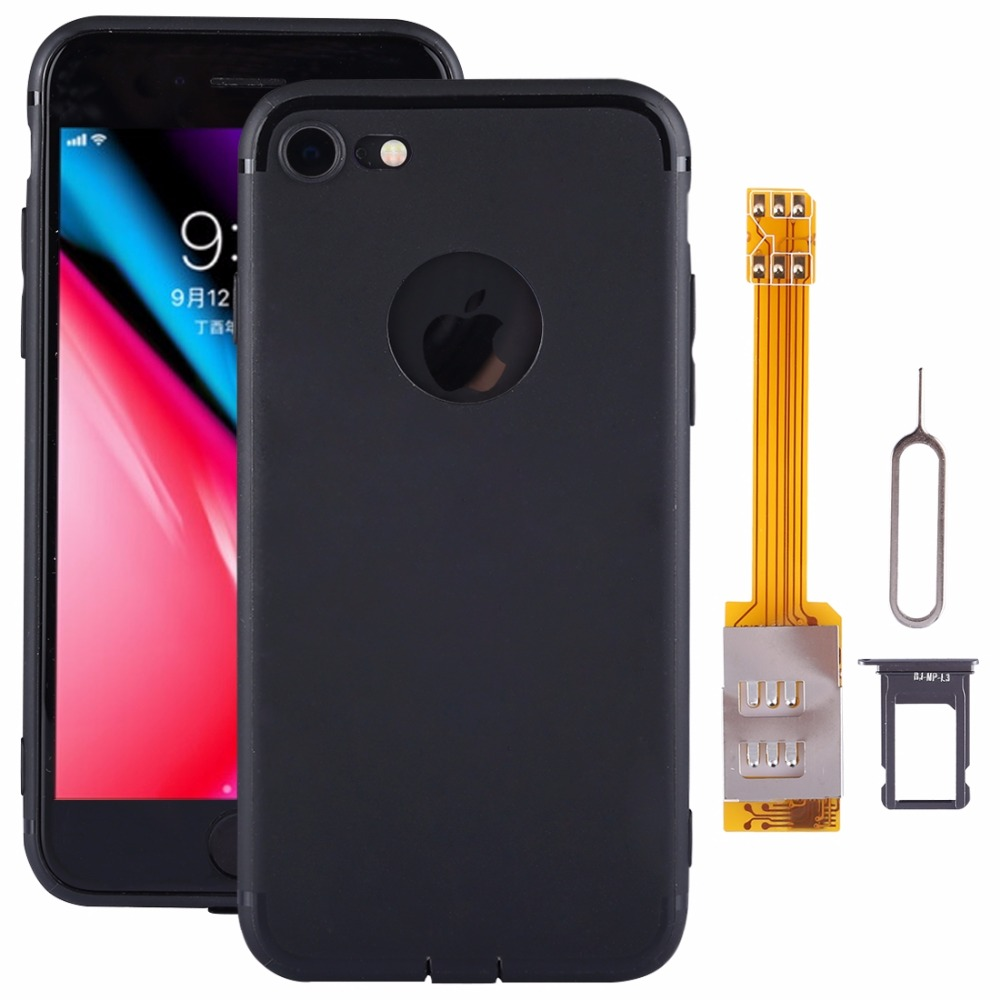 For iPhone 8 8 Plus Dual SIM Cards Adapter Kit with Soft