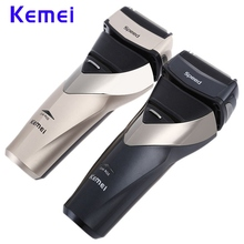 Kemei KM-8102 Professional Electric Shaver Rechargeable Waterproof Shaveing For Man Beard Trimmer Men Face Care Shaver Razor kemei 3d electric shaver razor shaving machine for men trimmer barbeador face care afeitadora rechargeable beard cutter km 8101