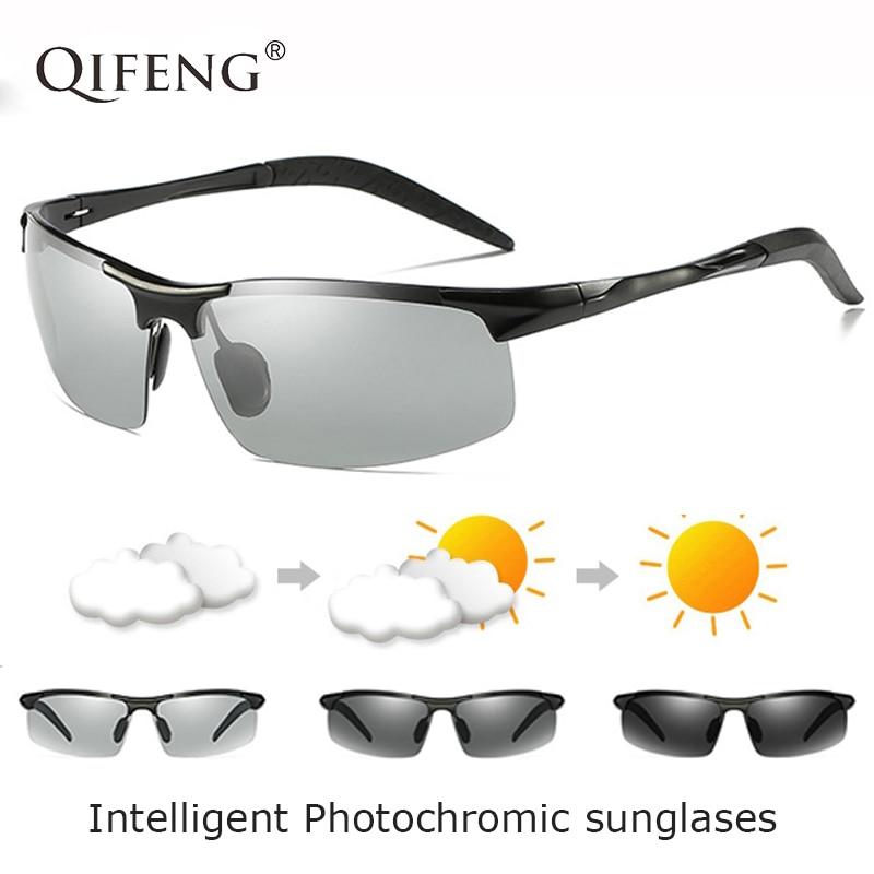 Polarized Photochromic Sunglasses Men Brand Designer Driver Sun Glasses For Male Driving Fishing Goggles Oculos de QF179 in Men 39 s Sunglasses from Apparel Accessories