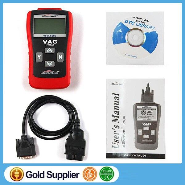 KONNWEI KW809/VAG405 Multifunction Scanner OBD2/EOBD Code Card Reader Reading Decoder,Diagnostic Tool ,Car Repair Instrument
