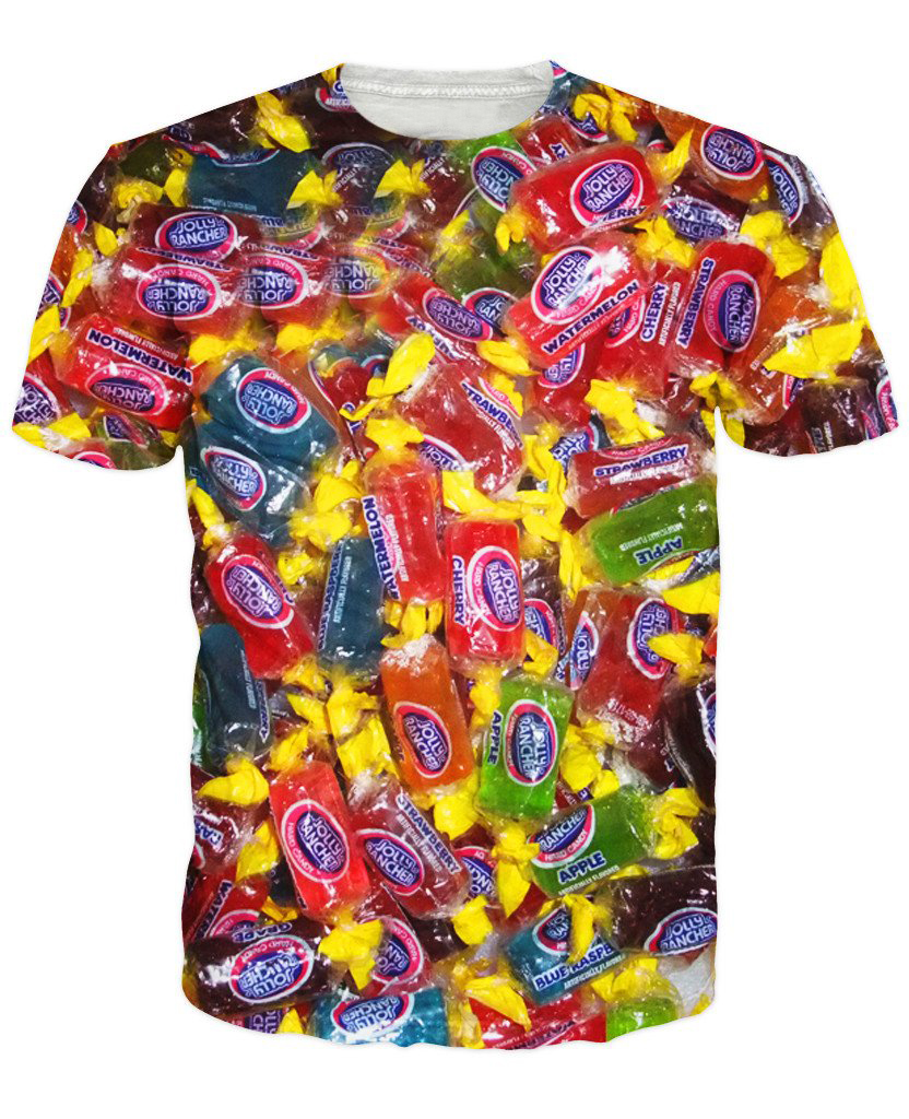 jolly ranchers t shirt fruit flavor candies 3d print sweet