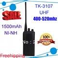 Бесплатная доставка DHL + 400-520 МГц + TK-3107 портативная двухканальная рация