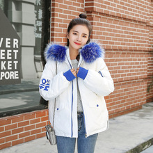 abrigos mujer invierno 2019 Short Cotton Coat Simple Winter Jacket for Women  Fur Collar winter Coat Women Outerwear цены онлайн