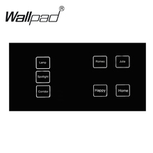 New Arrival 7 gangs 1 way 172*86mm Black Crystal Glass Led Backlight DIY touch light wall switch touch switch, Free Shipping new arrival 2 gangs 1 way crystal glass led black diy touch light wall switch touch switch free customize words free shipping