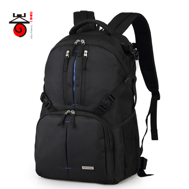 Senkey style Waterproof Backpack Camera Bag Digital DSLR Laptop Bag For Casual Men Women School Bags Backpack Nikon Canon Sony lowepro protactic 450 aw backpack rain professional slr for two cameras bag shoulder camera bag dslr 15 inch laptop