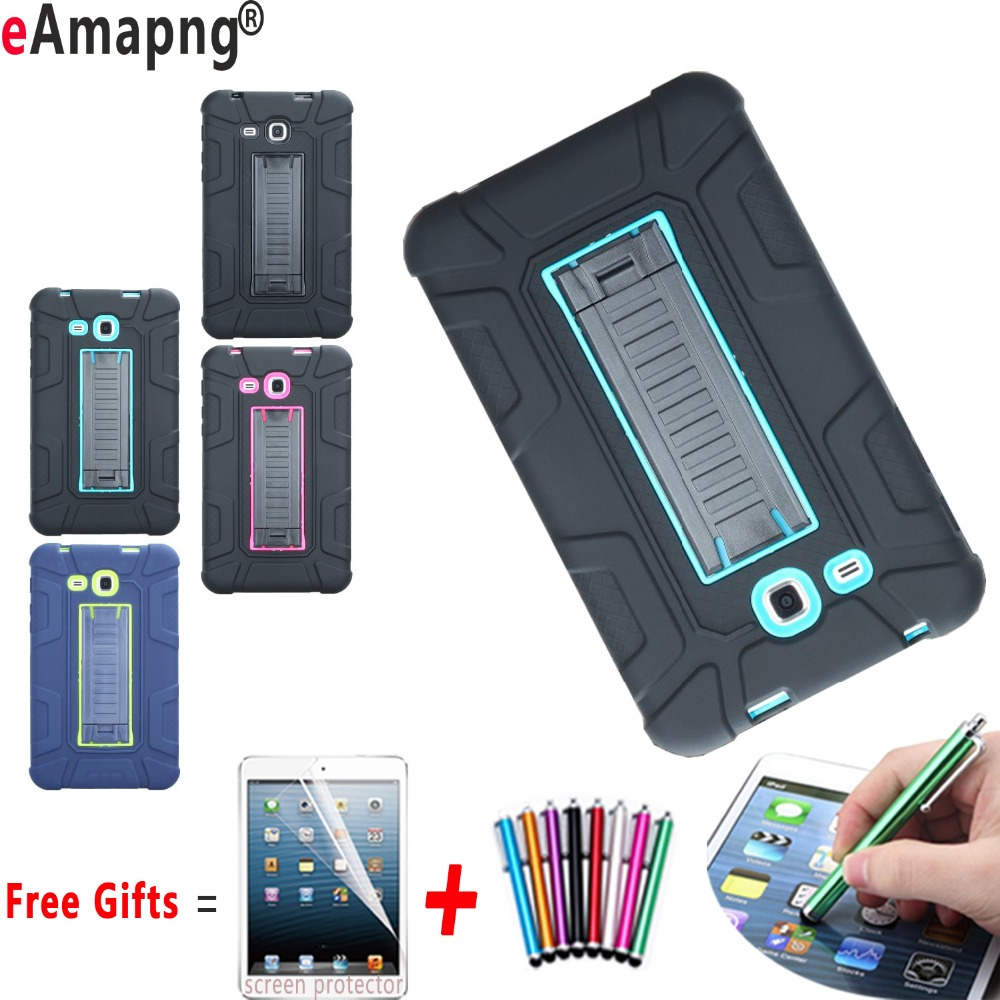 Case for Samsung Galaxy Tab A 7.0 2016 Shockproof Kickstand Kids Safe Cover for Samsung Galaxy Tab A 7.0 T280 T285 metal ring holder combo phone bag luxury shockproof case for samsung galaxy note 8