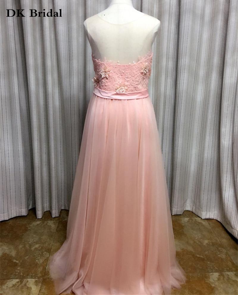 DK Nupcial 100% Real Fotos Peach Vestidos de dama de Honor Larga ...
