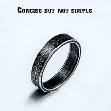 BEIER Punk Gothic Titanium Stainless Steel Black Simple Ring viking style for Men Jewelry BR-R088(China)