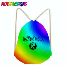 Roblox Toys Drawstring Bags for Teenager Boys Girls Children Cartoon Bookbag Students Backpack bagpack School Bags rugzak(China)