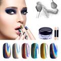 1g Holographic Powder Laser Mirror Powder Chrome Rainbow Glitter UV Gel Polish Powder Sequins Dust Nail Unicorn Powder