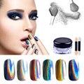 1g Polvo Holográfico Láser Espejo Cromo En Polvo Rainbow Glitter UV Gel Polaco Lentejuelas Polvo Del Polvo de Uñas de Polvo de Unicornio