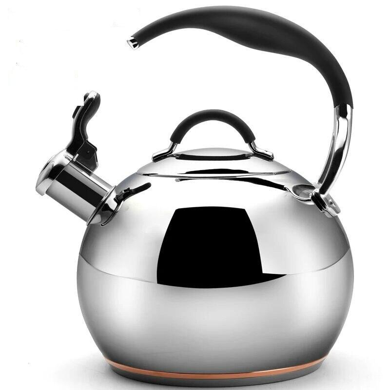 Waterkoker Pot 3L Fornuis Waterkoker Inductie Fluitketel Luxe Mooie Rvs Fluitketel Geluid Water Pot - 2