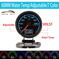 HB 7-Color-in-1 60mm Temperatura Da Água Medidor Medidor com Display LCD de Peças de Automóvel de Corrida Calibre Temperatura Da Água