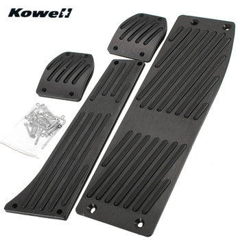 KOWELL Foot Rest Fuel Brake Clutch Pedals Plate Cover Car Pedal Pads For BMW 3 Series 3Series E30 E36 E46 E87 E90 E91 E92 E93 M3 image