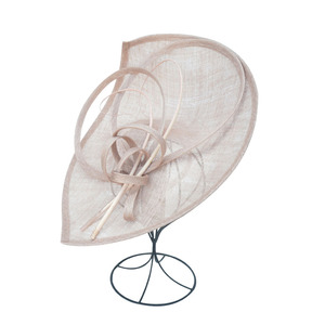 Image 4 - FS Sinamay เคนตั๊กกี้ DERBY หมวกปีกกว้างขนาดใหญ่ Handmade ผ้าลินินหมวก Fascinator VINTAGE Elegant PARTY ค็อกเทลหมวก