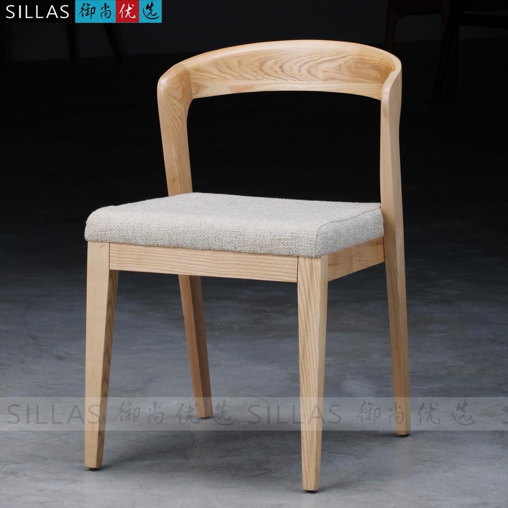 Scandinavian furniture wood dining chair IKEA chairs Japanese