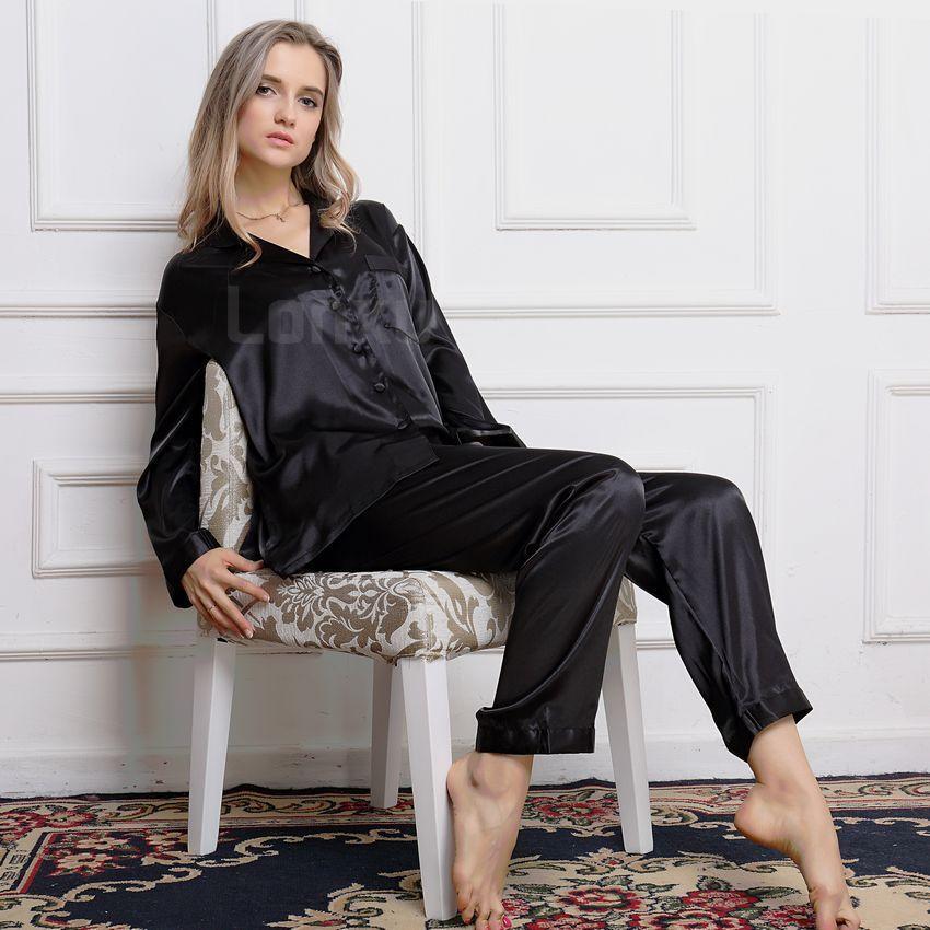 Womens 100 Silk Pajamas Set Pajama Pyjamas PJS Sleepwear Set Loungewear XS S M L XL