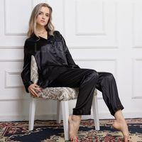 Womens 100% Silk Pajamas Set Pajama Pyjamas PJS Sleepwear Set Loungewear XS S M L XL
