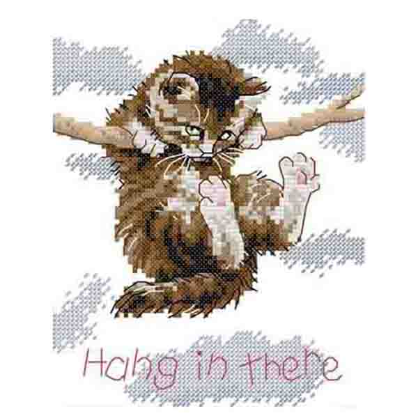 DIY hand knitting count Cross stitch suit Embroidery set 14CT hanging on the branches of the cat pattern cross stitch 18 * 21