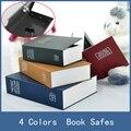 Venda quente 4 Cores de Aço Escondido Segredo Cofre de Segurança Cofre Dicionário Livro Seguro, pequena Loja de Dinheiro Moeda Caixa de Fechadura Com Chave