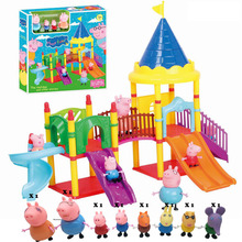 peppa pig toys Series of Amusement park Toys PVC Action Figures Family Toy Baby Kid Birthday Gift brinquedo