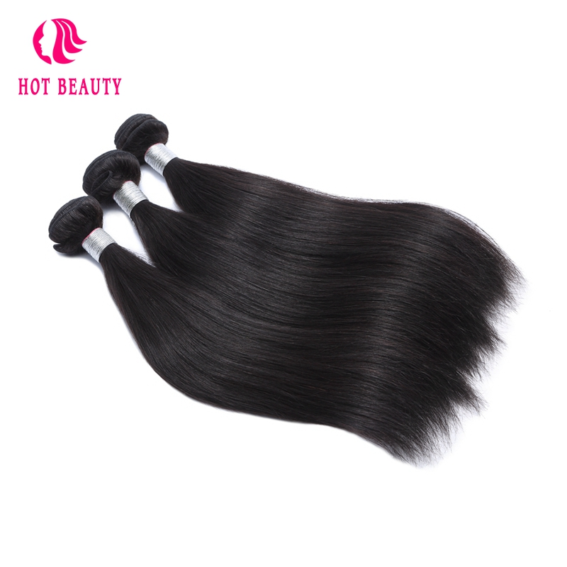 Hot Beauty Hair Straight Peruvian Human Hair 3 Bundles Deal 10-28 Inch Hair Weave Natural Color Free Shipping Remy Hair