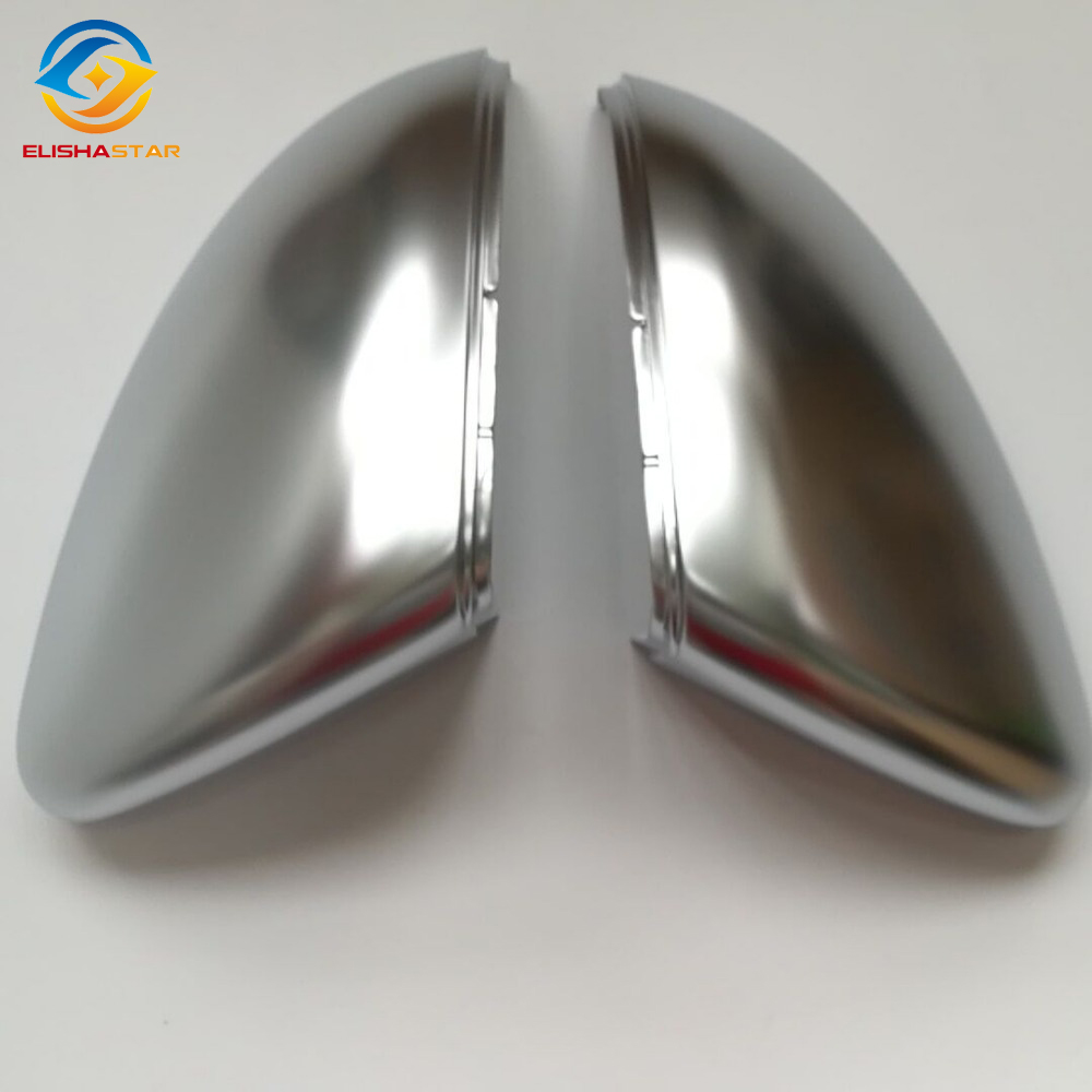 ELISHASTAR  Rearview Mirror Case Chrome Matt Cover Outside Aluminum Satin Finish Mirror Cover  For VW Golf7 MK7 5G0857537E/538E abs mirror cover chrome matt painted cap side mirror housings for volkswagen jetta golf 5 passat b6 ct
