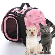Pet Carrier Bag Portable Travel Outdoor Puppy Dog Cat Carrier Bag Shoulder Package Handbag Foldable EVA Soft Pet Dog Bag S/M/L недорого
