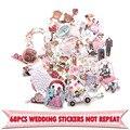 68 шт., креативные Значки для свадебной тематики, декоративные наклейки для DIY, Мультяшные наклейки для ПК, настенный блокнот, чехол для телеф...