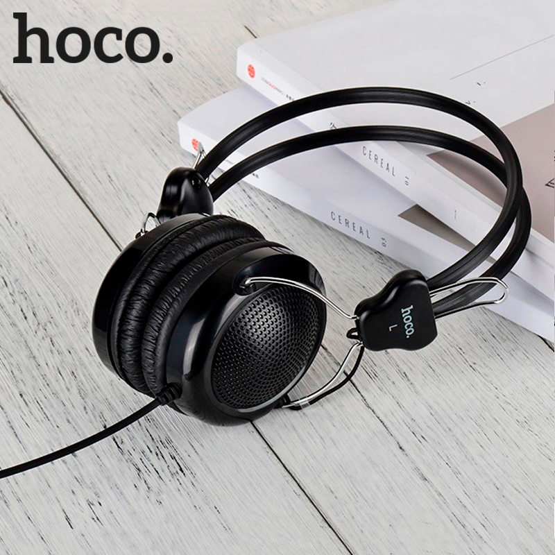 HOCO Wired Gaming Headphones for PC Phone Gamer Headset Big Earphones Microphone for iPhone Samsung Xiaomi Monitor Headphones