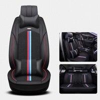 (Спереди и сзади) универсальный шелк льда кожаные чехлы для сидений автомобиля для BMW e30 e34 e36 e39 e46 e60 e90 f10 f30 x3 x5 x6 автомобильные аксессуары