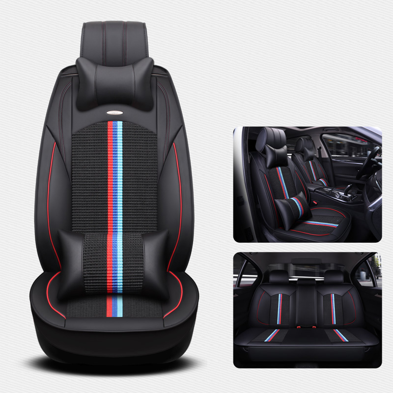 (Front + Rear) Universal Ice Silk Leather car seat covers For BMW e30 e34 e36 e39 e46 e60 e90 f10 f30 x3 x5 x6 car accessories все цены