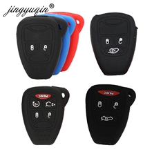 jingyuqin Silicon Key fob Cover Case  for Jeep Wrangler Cherokee Chrysler Liberty Pacifica Sebring Aspen Magnum Charger Dodge