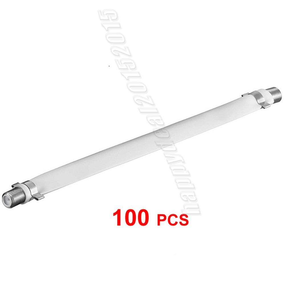 Prix pour Plat Coaxial RG6 F Type Jumper Câble pour Fenêtres et Portes 100 pack