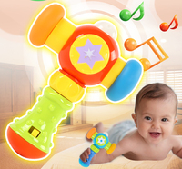 Beiens Musical Hammer Toys Baby 0 1 Year Old Sound And Light Knock Hammer Children Early