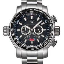 Relojes hombres lujo de la marca pagani design sport reloj de buceo militar relojes dial grande de cuarzo multifunción reloj reloj hombre