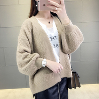 2018 new coat, early spring dress, Ji Chunqiu's short sweater, student's knitted cardigan, lazy style.