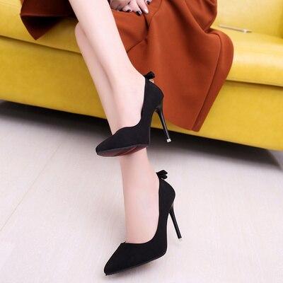 rouge Haute Simples Talons Pointu De Et Automne Nouvelle À Femmes Hauts Printemps Chaussures Noir gris Strass Femelle Noir rose Ungwx4U8rf