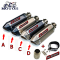 Universal GY6 Motorcycle Scooter Modified  yoshimura Muffler exhaust pipe CBR 125 250 CB400 CB600 YZF FZ400 Z750 RACING