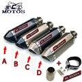 Universal de La Motocicleta GY6 Scooter Modificado yoshimura tubo de escape Del Silenciador CBR 125 250 YZF FZ400 CB400 CB600 Z750 RACING