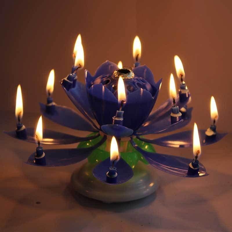 Bougie d'anniversaire lotus