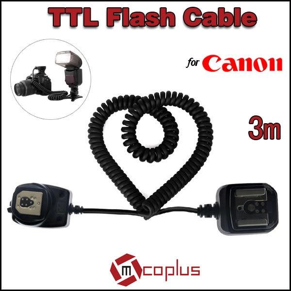 Mcoplus Meike 3m E-TTL TTL Off Camera Flash Sync Shoe Cord Cable for Canon 580EX 430EX II 550EX OC-E meike ttl off camera flash remote shoe cord for canon