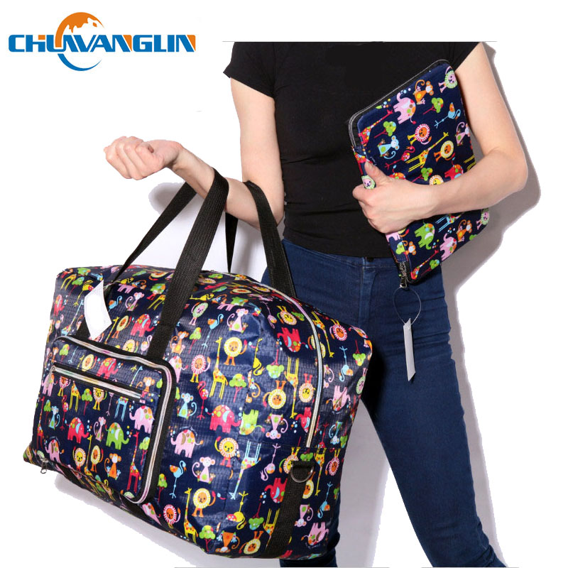 Chuwanglin Animal Prints Travel Bag Women Fashion Totes Bags Waterproof Duffle Big Bag Feminine Luggage Handbag A0091