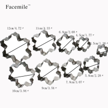 9PCS Christmas Fondant Gift Cookie Biscuit Cutter Mold Stainless Steel