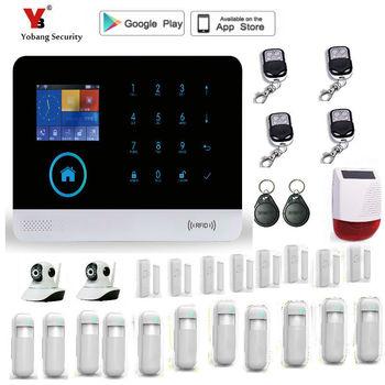 Sistema de alarma GSM Yobang, multilenguaje, inalámbrico, SMS Home, sistema inteligente de alarma para casa, sistema de alarma de seguridad de puertas antirrobo automático