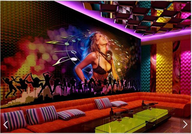 3d Wallpaper Custom Wall Murals DJ Sexy Girl KTV Background