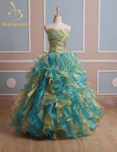 tiered vestido ball dresses
