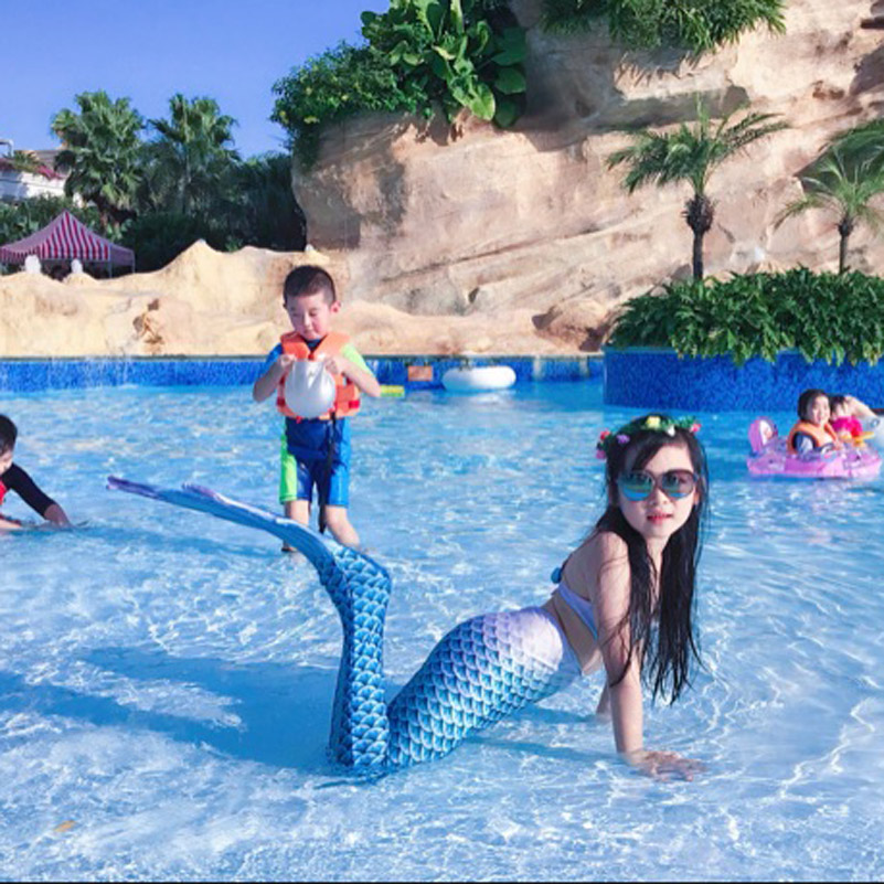Baby Girls Kid Cosplay Mermaid Tail Dress Costume Vest Top Mermaid Tail Cloth Swimsuit Mermaid Costume Tail Only Without Monofin kids mermaid tail with monofin swimmable filpper costume for girls lady mermaid tails cosplay the little mermaid child clothes