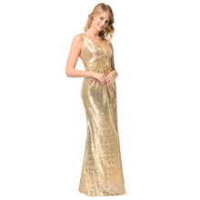 amazon hot style Europe and the United States women s sexy dresses High-grade  gold sequined bd017188c258